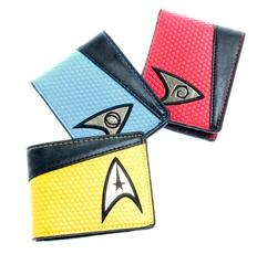 Star Trek Bifold Leather Blue Red Yellow Short Wallet Purse