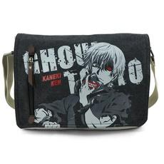 Anime Tokyo Ghoul Men Canvas Shoulder Bag Handbag Messenger School Bag Tote-Fandomsky