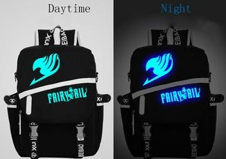 Anime Fairy Tail Cosplay Luminous Backpack Laptop Bag-Fandomsky