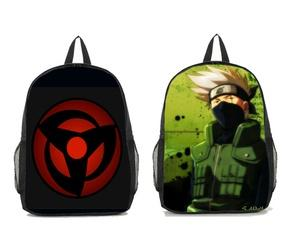 Anime Naruto Sharingan and Hatake Kakashi Casual Backpack Shoulder Bag-Fandomsky