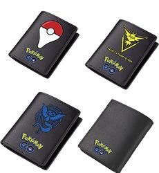 Pokemon GO Pokeball Yellow Instinct Blue Mystic Team Leather Short Wallet