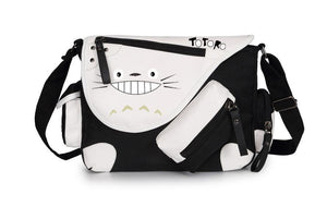 My Neighbor Totoro Shoulder Crossbody Bag Black and White-Fandomsky