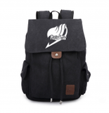 Fairy Tail Beam Mouth Backpack Brown Black Oxford Cloth-Fandomsky
