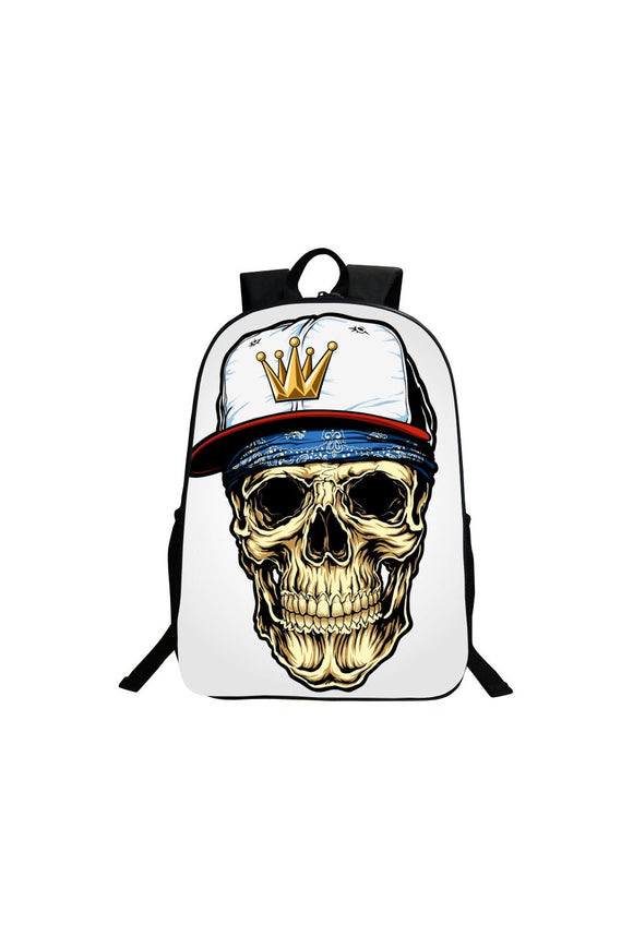 White Crown Skull Schoolbag-Fandomsky