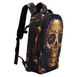 Golden Crown Skull Schoolbag