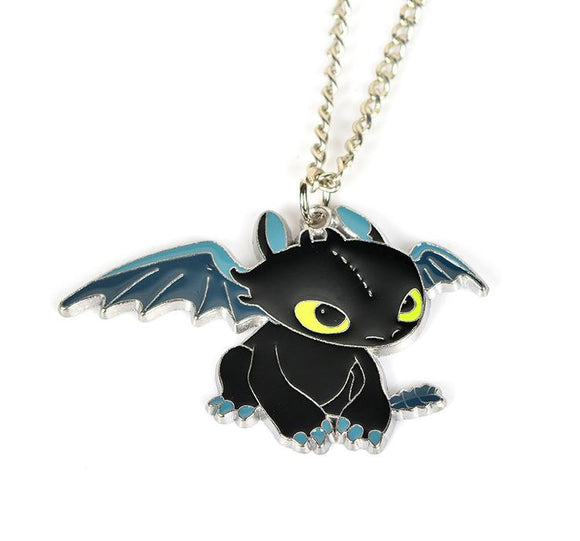 How to Train Your Dragon Toothless Charm Necklace and Keychain