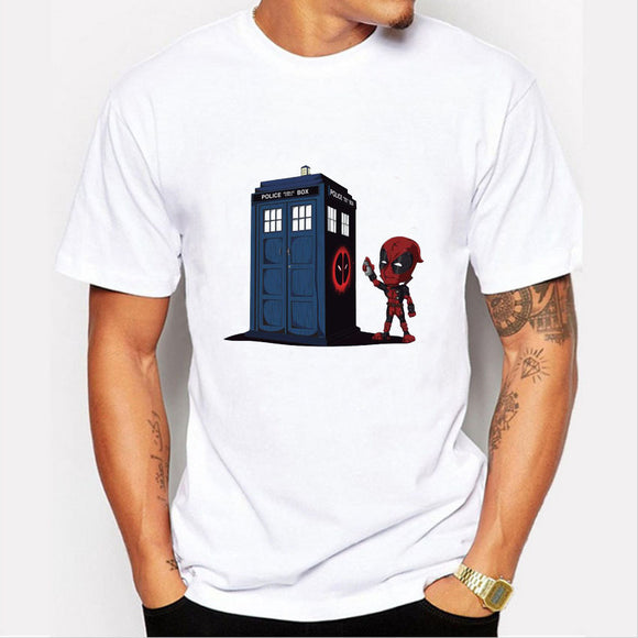 Doctor Who Police Box Casual Short Sleeve T-Shirt For Men and Women-Fandomsky