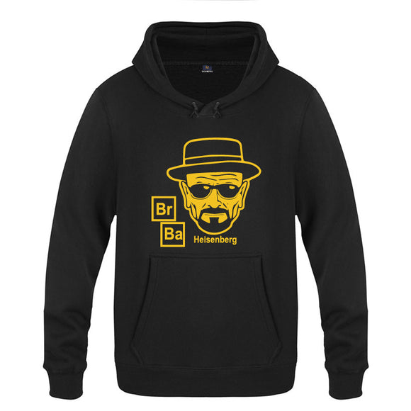 Breaking Bad Men's Heisenberg Hooded Sweatshirt Hoodie-Fandomsky