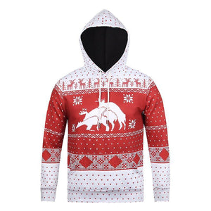 Men 3D Digital Print Christmas Ugly Hoodie-Fandomsky
