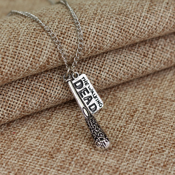 The Walking Dead Antique Silver Pendant Necklace-Fandomsky