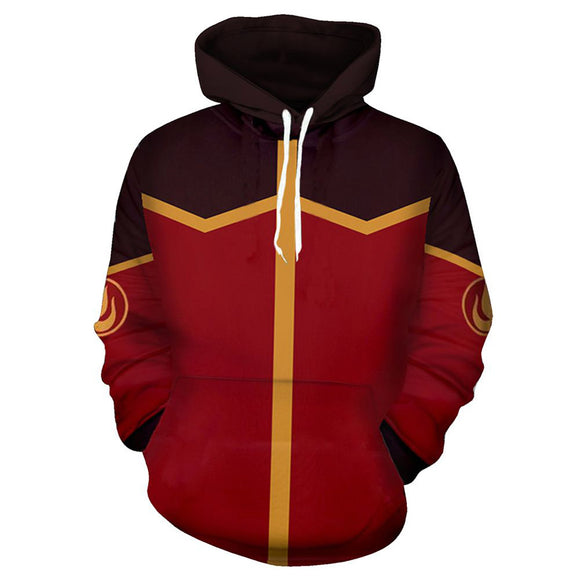 Unisex Fire Nation Cosplay Hoodies Avatar: The Last Airbender Pullover 3D Print Jacket Sweatshirt