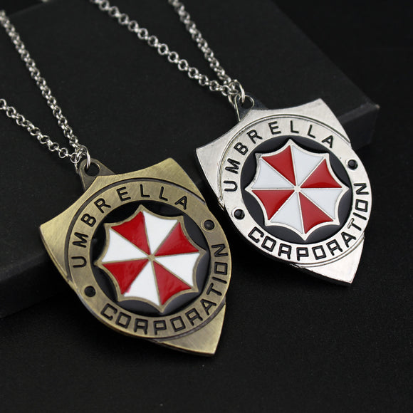 Resident Evil Movie Series Umbrella Logo Pendant Necklace-Fandomsky