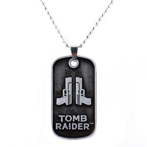 Tomb Raider The 20th Anniversary Gun Pendant Necklaces Bead Chain-Fandomsky