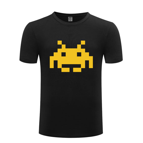 Adult Space Invaders Retro Gaming T-Shirt-Fandomsky