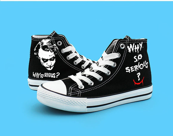 Halloween Men Hero Cosplay Shoes Canvas Shoes Printed Sneakers-Fandomsky