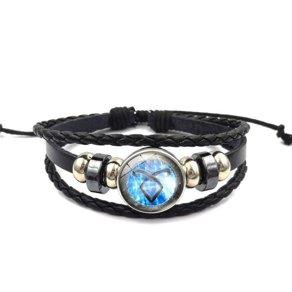 TV Shadowhunters Bracelet Braided Leather Bracelet Wristband