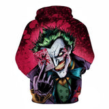 Joker Clown 3D Digital Print Pullover Hoodie Hooded Sweaters-Fandomsky