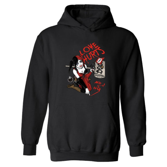 Suicide Squad Love Hurts Hoodie Hooded Sweatshirt Pullover
