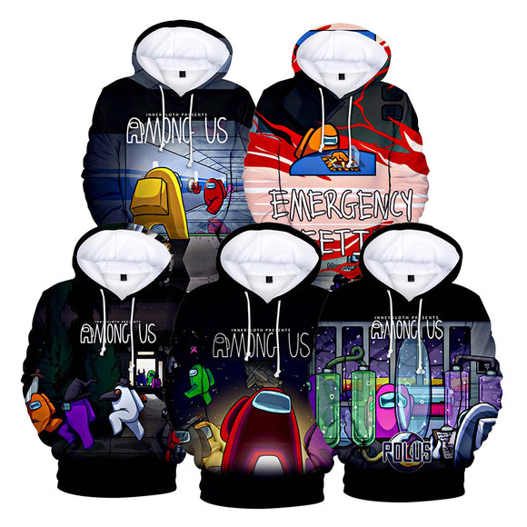 Unisex Among Us Cosplay Hoodies Men Women Long Sleeve Casual Pullover Sweatshirt