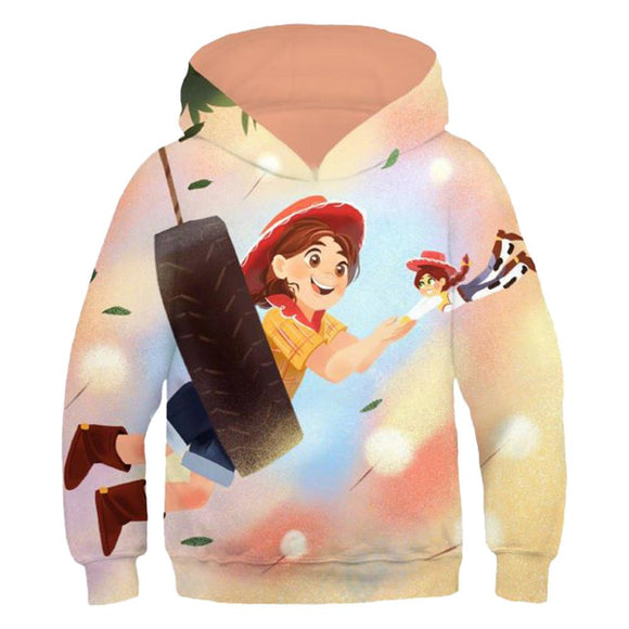 Kids Toy Story 4 Hoodie 3D Printed Sweatshirts Children Long Sleeve Sweatshirt