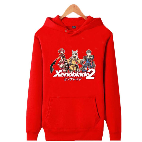 Unisex Xenoblade Chronicles 2 Hoodies Teens Novelty Hooded Sweatshirts Spring Pullover Outerwear Sportswear