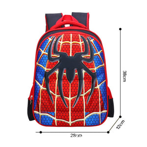 3D Print School Bag Spiderman Kids Light Cartoon Casual Backpack-Fandomsky