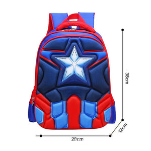 3D Print School Bag Captain America Kids Light Cartoon Casual Backpack-Fandomsky
