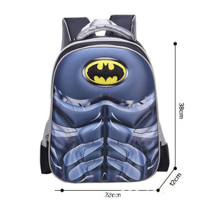 3D Print School Bag Batman Kids Light Cartoon Casual Backpack-Fandomsky