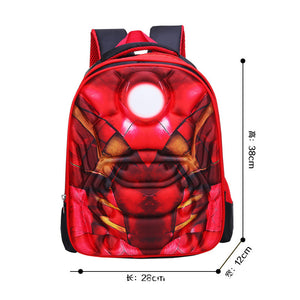 3D Print School Bag Iron Man Kids Light Cartoon Casual Backpack-Fandomsky
