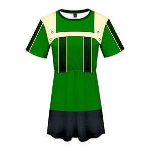 Boku No Hero My Hero Academia Skirt Asui Tsuyu Dress Outfit
