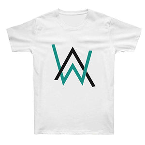 Alan Walker T-Shirts Cotton Short Sleeve Black-Fandomsky