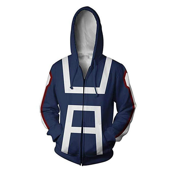 Teens Hoodie My Hero Academia Boku no Hero Zip Up Boys Girls Sweatshirt Unisex