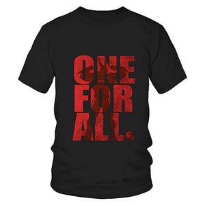 BNHA All Might One for All Shirt Sleeves t-Shirt Summer Cotton Tee-Fandomsky