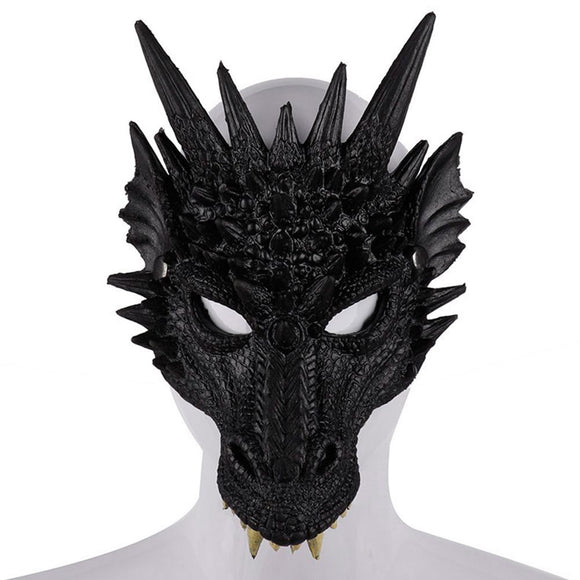 Fantasy Adult Game of Thrones 8 Dragon Half Face Halloween Mask Unisex Costume Accessory-Fandomsky