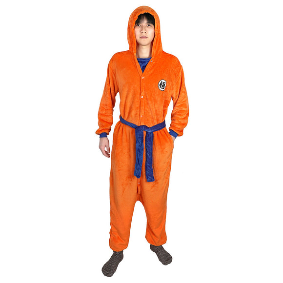 Dragon Ball Son Goku Cosplay Hooded Jumpsuit Sleepwear Pajamas Halloween Carnival Robes