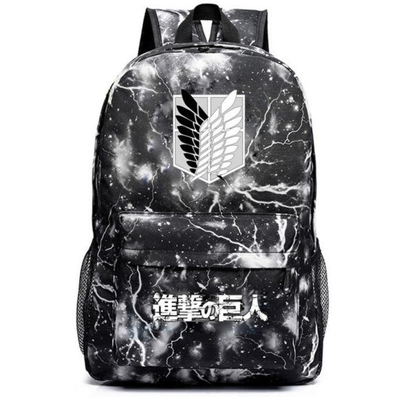Anime Attack On Titan Scouting Legion Wings of Freedom Cosplay Backpack
