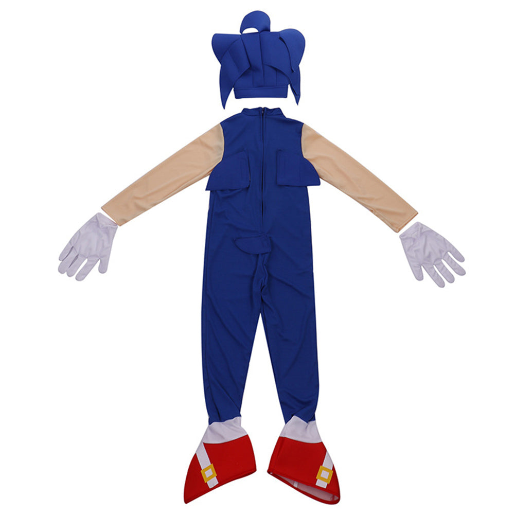 Kids Sonic The Hedgehog Jumpsuit Halloween Cosplay Costume Birthday Pa Fandombuy