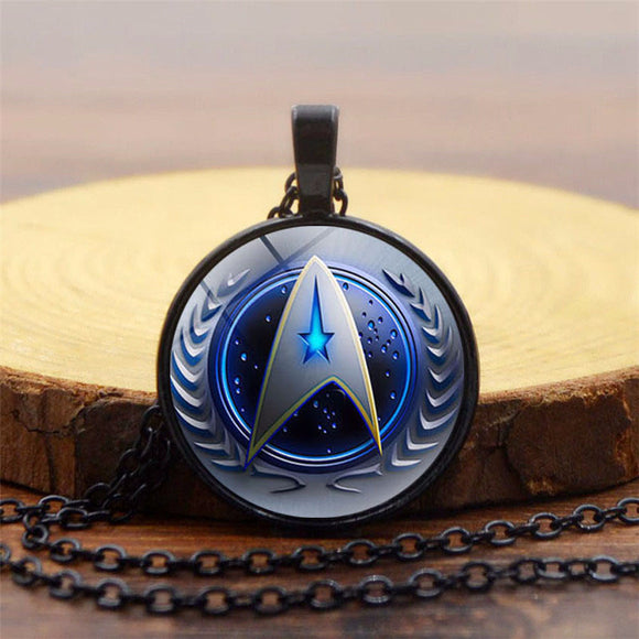 Star Trek The Next Generation Starfleet Command Glass Dome Pendant Necklace-Fandomsky