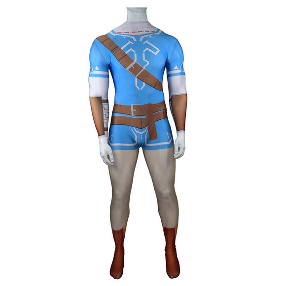 Game The Legend of Zelda: Breath of the Wild Link Cosplay Costume 3D Printed Adult Bodysuit Uniform