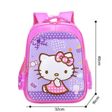 3D Print School Bag For Kids Hello Kitty Light Cartoon Casual Backpack 2 Colors-Fandomsky