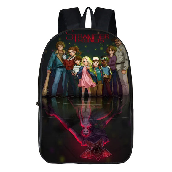 3D Print Stranger Things Backpack School Bag-Fandomsky