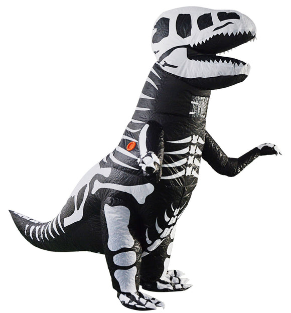 Adult Skeleton Inflatable Dinosaur Costume T-Rex Blow up Costume