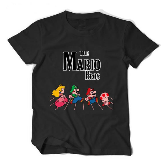 Super Mario The Mario Bros Casual Short sleeve T-shirt 4 Colors-Fandomsky