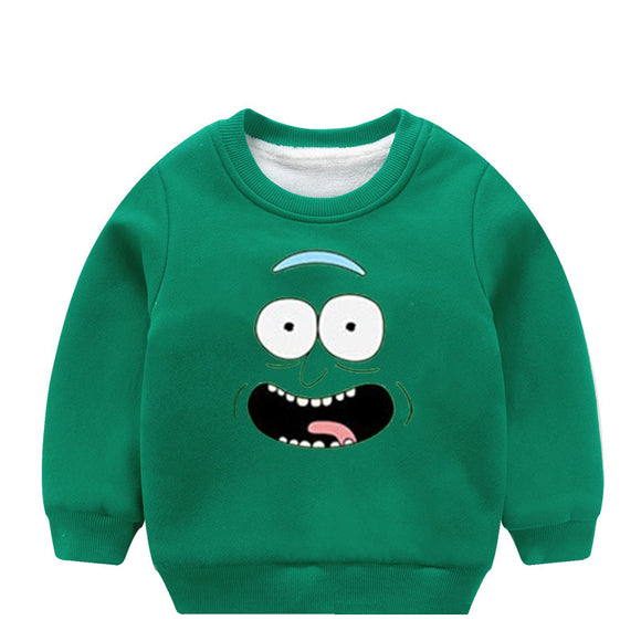 Children Rick And Morty Sweater Spring Autumn Boy Girl Baby O-Neck Knitted Cartoon Tops Sweaters