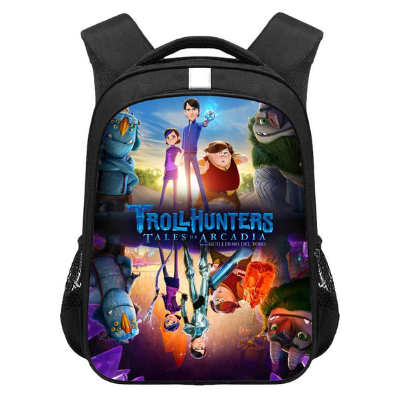 Kids Trollhunters: Tales of Arcadia Lightweight Backpack Students Laptop Bag Boys Girls Back to School Gift