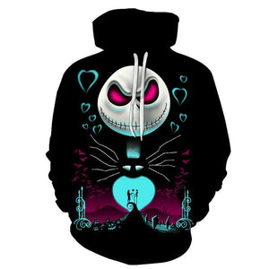 The Nightmare Before Christmas Skeleton Jack Hoodie For Halloween-Fandomsky