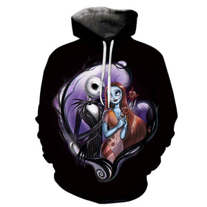 The Nightmare Before Christmas Skeleton Jack And Shally Hoodie
