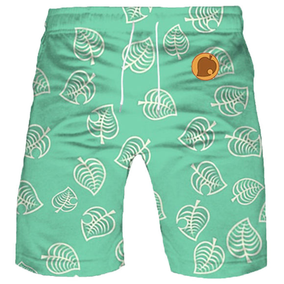 Kids Animal Crossing Summer Beach Shorts Boys Timmy Tommy Cosplay Shorts Casual Short Pants
