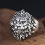 Jewelry Stainless Steel Personality Punk Lion Head Ring For Men's Rings-Fandomsky