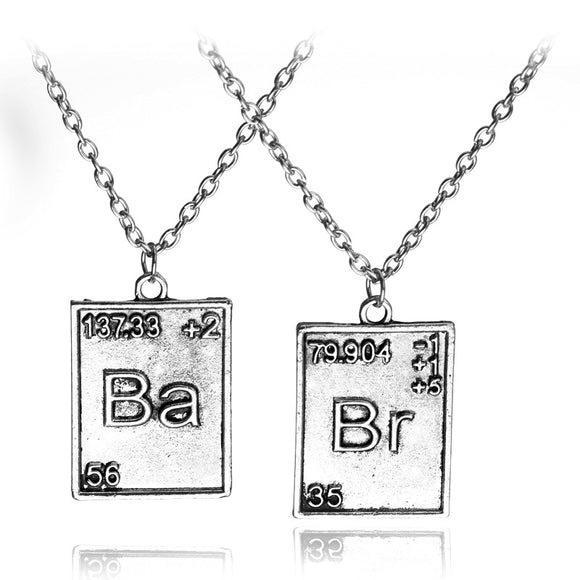 Breaking Bad Chemical Ba Br Logo Necklace